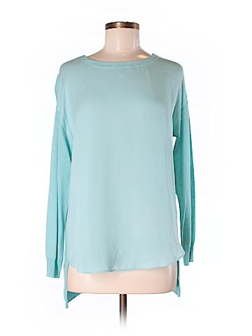 Per se Long Sleeve Silk Top Size S