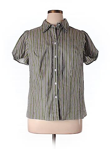 Lane Bryant Short Sleeve Button-Down Shirt Size 16