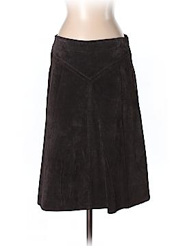 Aqua Leather Skirt Size 4