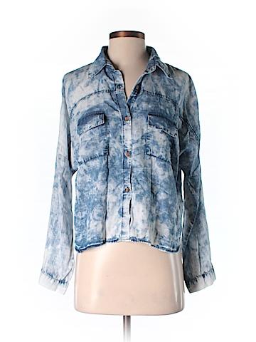 Love, Fire Long Sleeve Button-Down Shirt Size S
