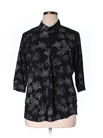 Venezia 3/4 Sleeve Blouse Size 14-16 Plus (Plus)