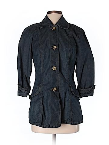 French Cuff Women Denim Jacket Size S