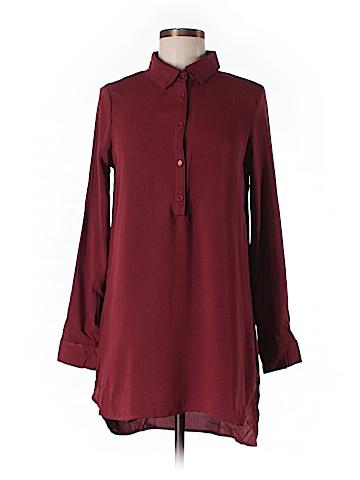 Heart Hips Long Sleeve Button-Down Shirt Size S