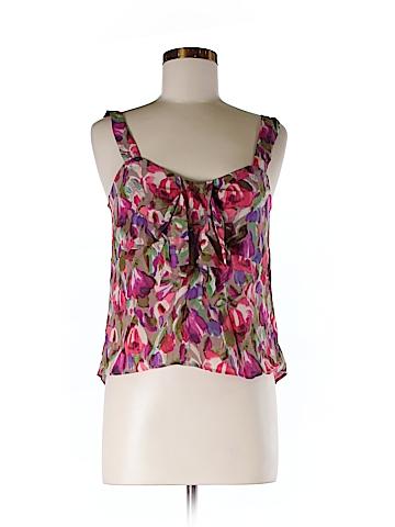 Bar III Sleeveless Silk Top Size M