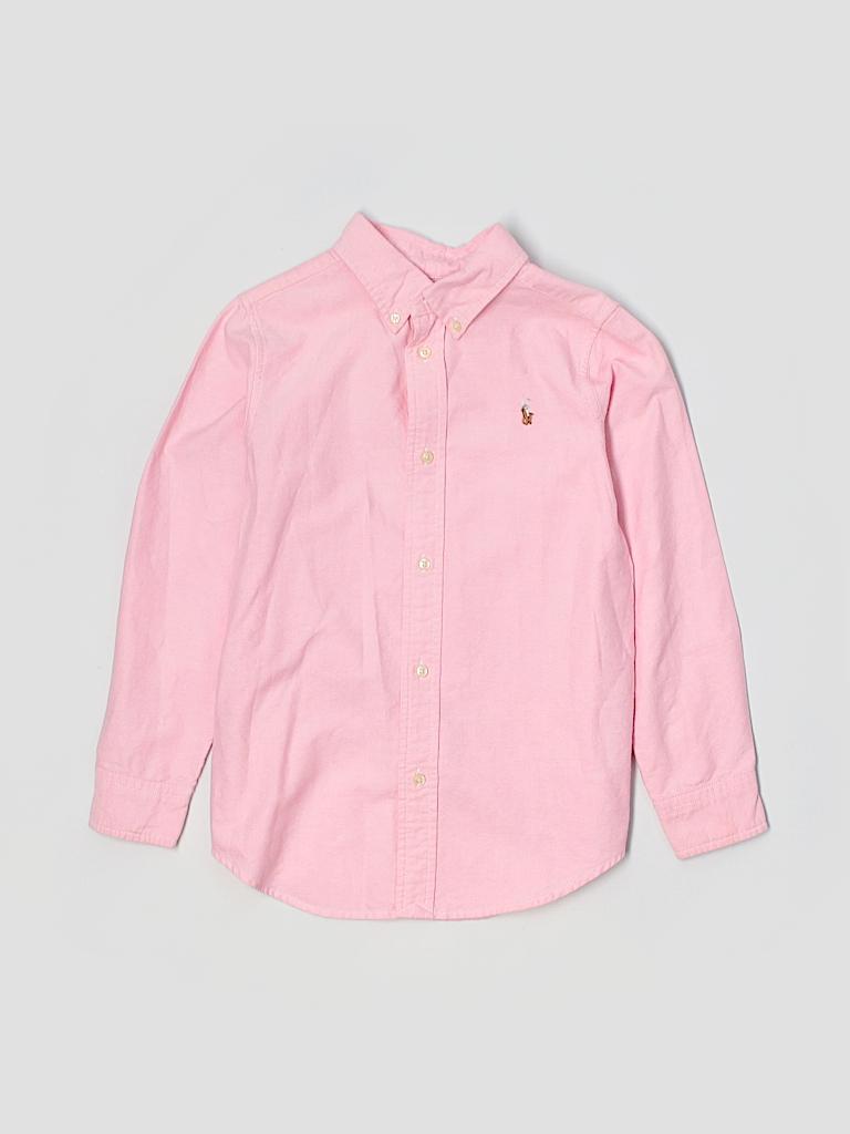 Ralph Lauren 100 Cotton Graphic Light Pink Long Sleeve