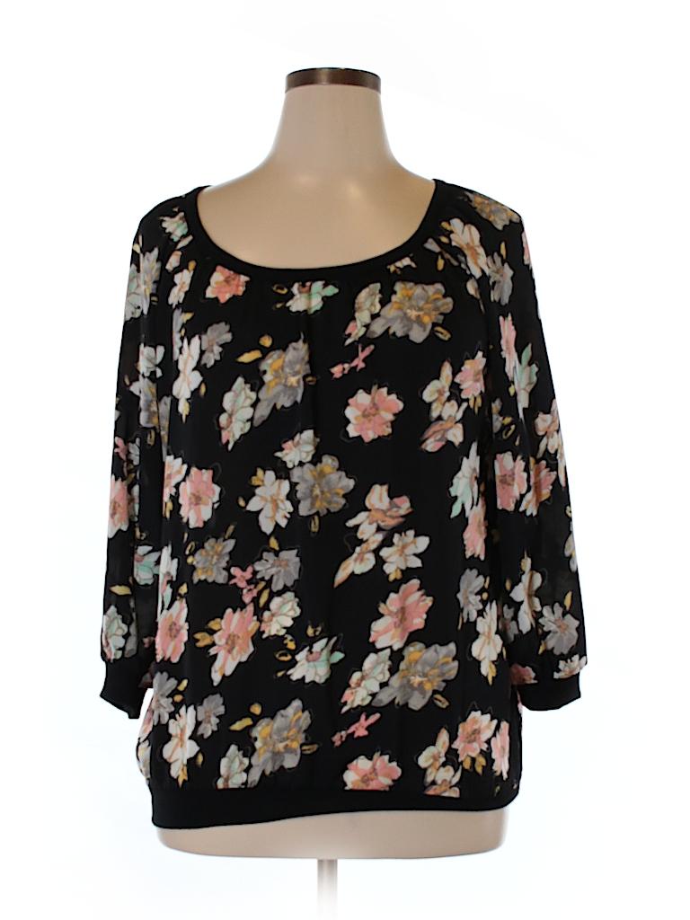 Massini Women 3/4 Sleeve Blouse Size XL