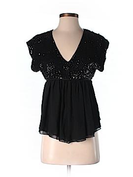 Betsey Johnson Short Sleeve Silk Top Size 4