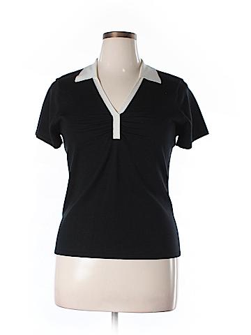 Style&Co Short Sleeve Silk Top Size XL