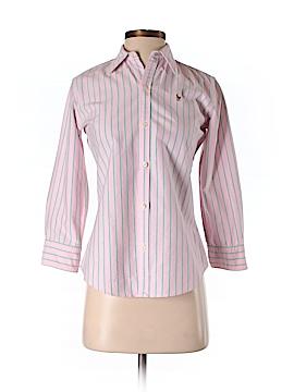 Ralph Lauren 3/4 Sleeve Button-Down Shirt Size 2