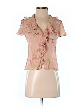 Lauren Jeans Co. Short Sleeve Silk Top Size S