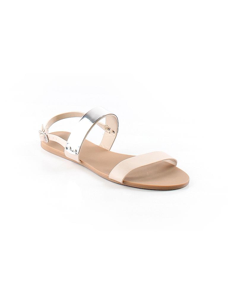 e38828e7456 Forever 21 Metallic Color Block Beige Sandals Size 7 - 44% off