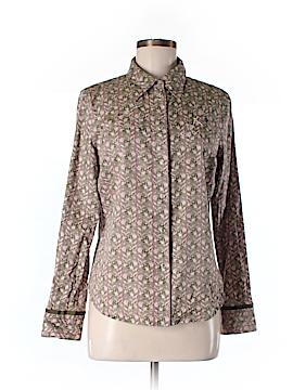 Janeville Long Sleeve Button-Down Shirt Size M