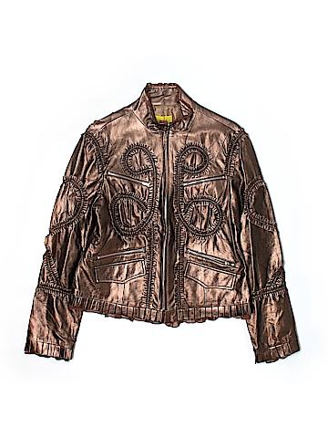 Jagger Women Faux Leather Jacket Size L