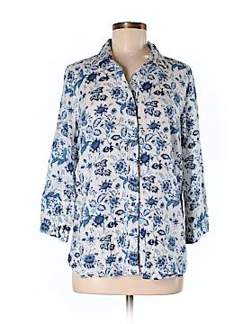 Anne Carson 3/4 Sleeve Button-Down Shirt Size S