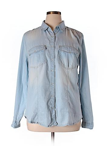 Charlotte Russe Long Sleeve Button-Down Shirt Size XL