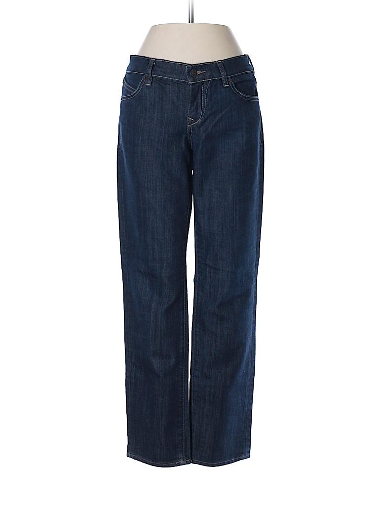 Old navy solid navy blue jeans size 2 91 off thredup for Denim shirt women old navy
