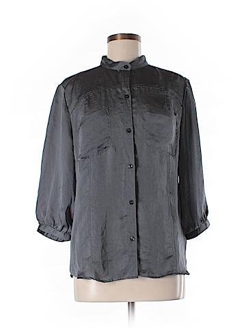 New York & Company 3/4 Sleeve Blouse Size L