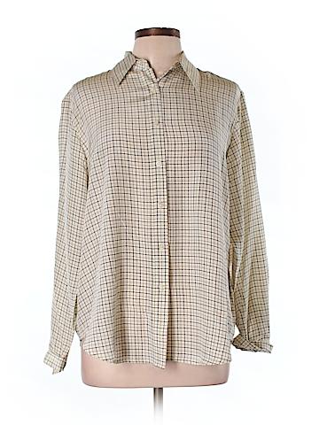 Gabriella Molinari Long Sleeve Silk Top Size L