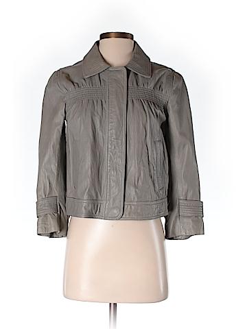 Ann Taylor LOFT Women Leather Jacket Size 2