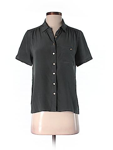 J. Crew Short Sleeve Silk Top Size 4