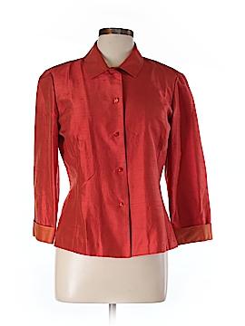 Dana Buchman Long Sleeve Silk Top Size 12 (Petite)