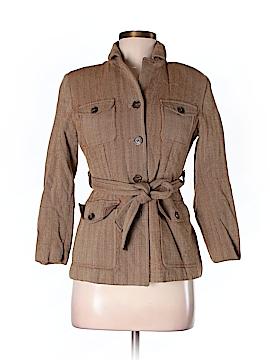 Ann Taylor Women Wool Coat Size 6 (Petite)
