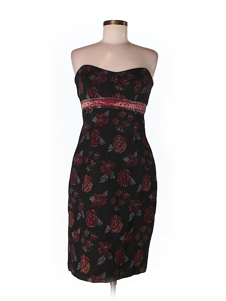 Nicole Miller Collection Floral Black Cocktail Dress Size 8 94
