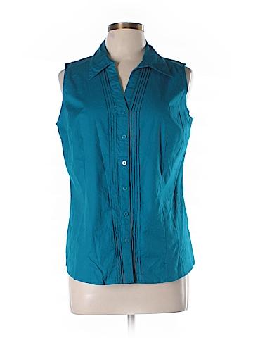 St. John's Bay Sleeveless Button-Down Shirt Size L