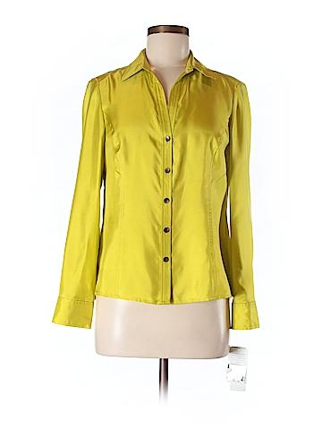 Jones New York Collection Long Sleeve Silk Top Size 8 (Petite)