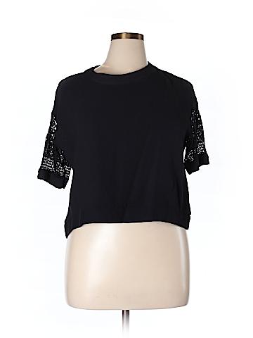 Zara Basic Short Sleeve Blouse Size XL