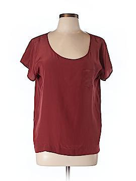 Club Monaco Short Sleeve Silk Top Size L