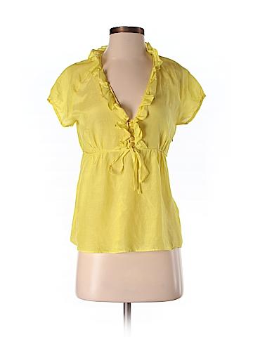 J. Crew Women Short Sleeve Blouse Size 4 (Petite)