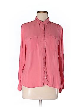 Ann Taylor LOFT Long Sleeve Button-Down Shirt Size L (Petite)