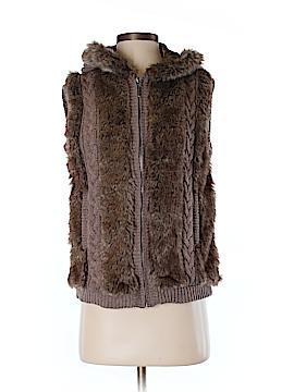 Roz & Ali Faux Fur Vest Size S
