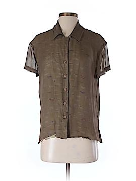 Harris/Wallace Short Sleeve Silk Top Size M