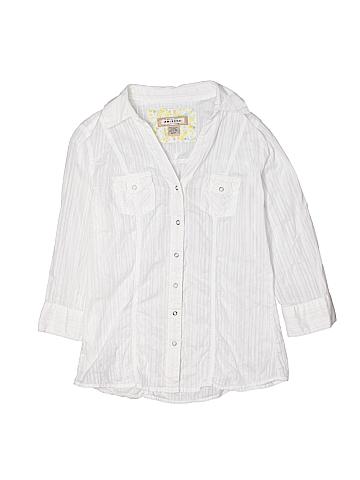 Arizona Jean Company 3/4 Sleeve Button-Down Shirt Size M