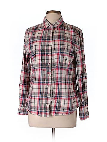 Jach's Girlfriend Women Long Sleeve Button-Down Shirt Size L