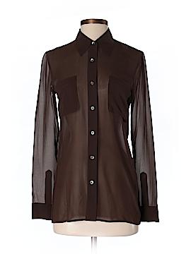 DKNY Long Sleeve Silk Top Size 4