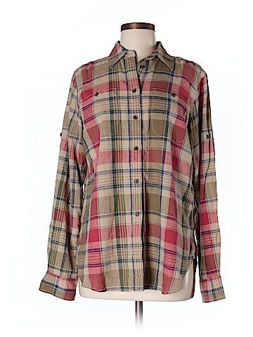 Lauren Jeans Co. Women Long Sleeve Button-Down Shirt Size M