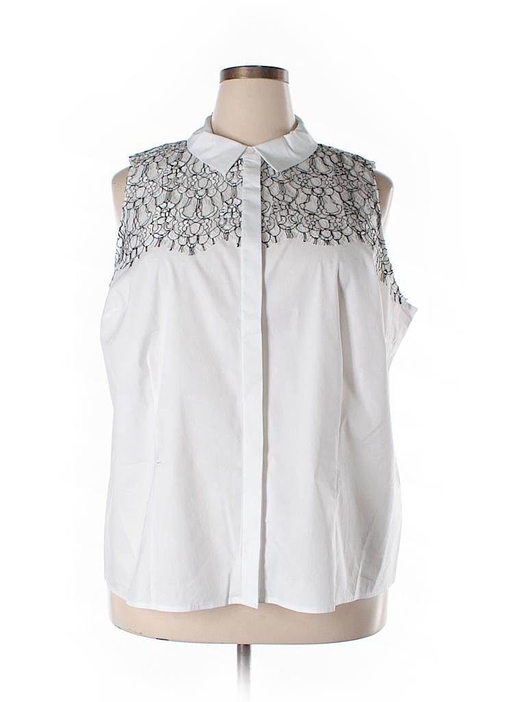 Eloquii sleeveless button down shirt 74 off only on thredup for Sleeveless cotton button down shirts