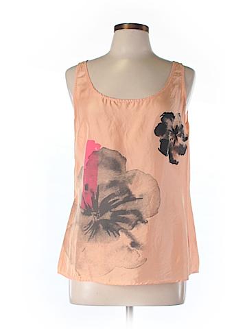 New York & Company Sleeveless Silk Top Size M