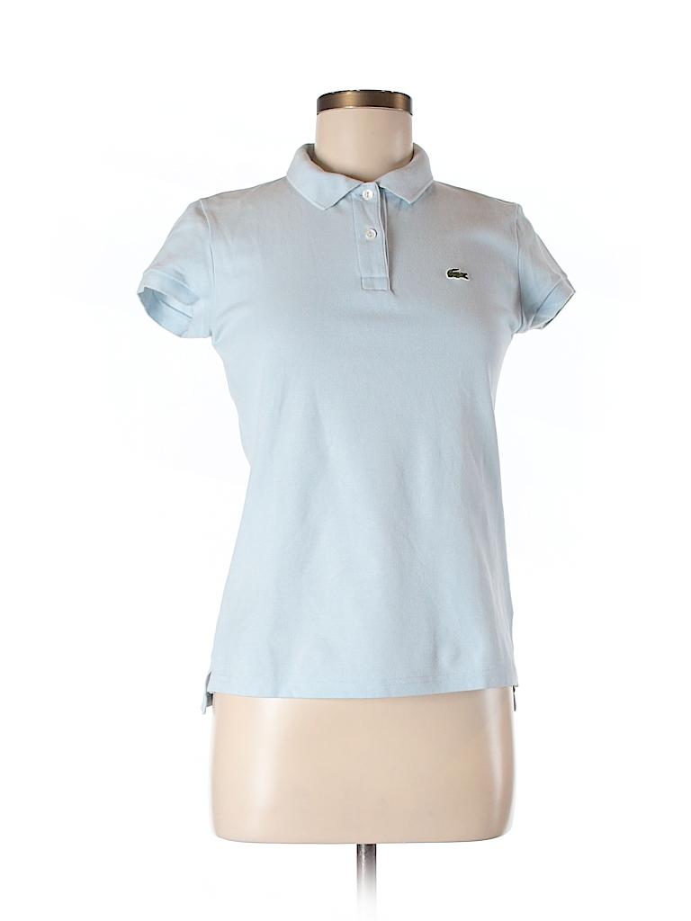 lacoste solid light blue short sleeve polo size 40 eu 83 off thredup. Black Bedroom Furniture Sets. Home Design Ideas