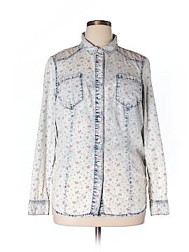 JunaRose Long Sleeve Button-Down Shirt Size 14