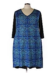 Isabel + Alice Women Casual Dress Size 2X (Plus)