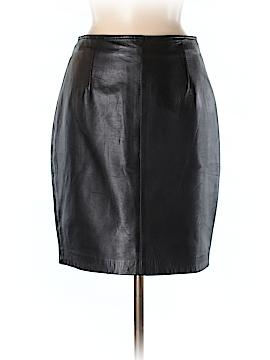 Linda Allard Ellen Tracy Leather Skirt Size 6