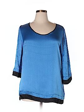 Soft Surroundings 3/4 Sleeve Silk Top Size XL (Petite)