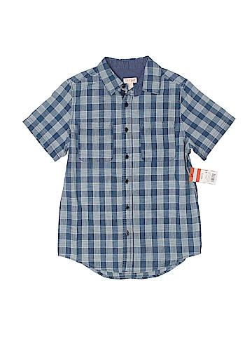 Cat & Jack Short Sleeve Button-Down Shirt Size 8 - 10