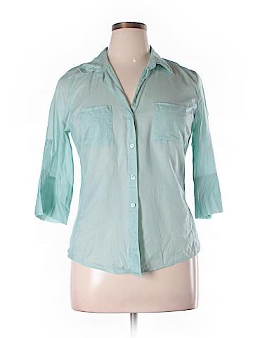 Ann Taylor Factory 3/4 Sleeve Button-Down Shirt Size 14