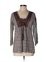 Calypso St. Barth Women 3/4 Sleeve Blouse Size S