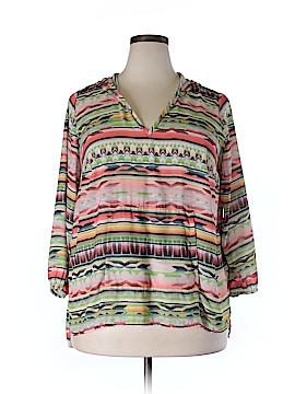 Karen Kane 3/4 Sleeve Blouse Size 0X (Plus)